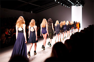 Défilé de mode pendant la New York Fashion Week