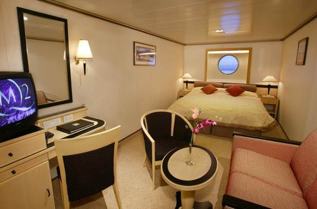 Queen Mary 2 : cabine Extérieure